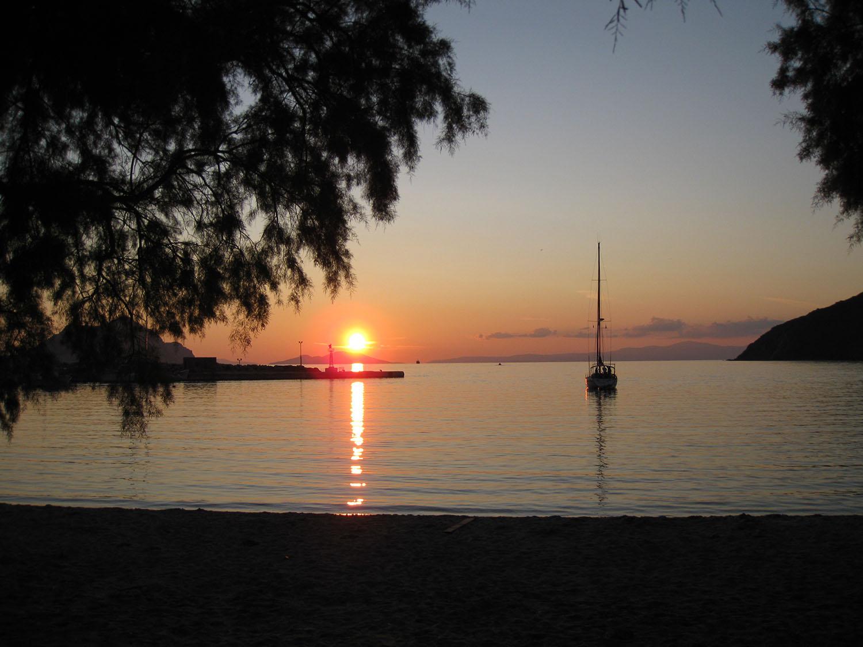 The beach of Aegiali Amorgos